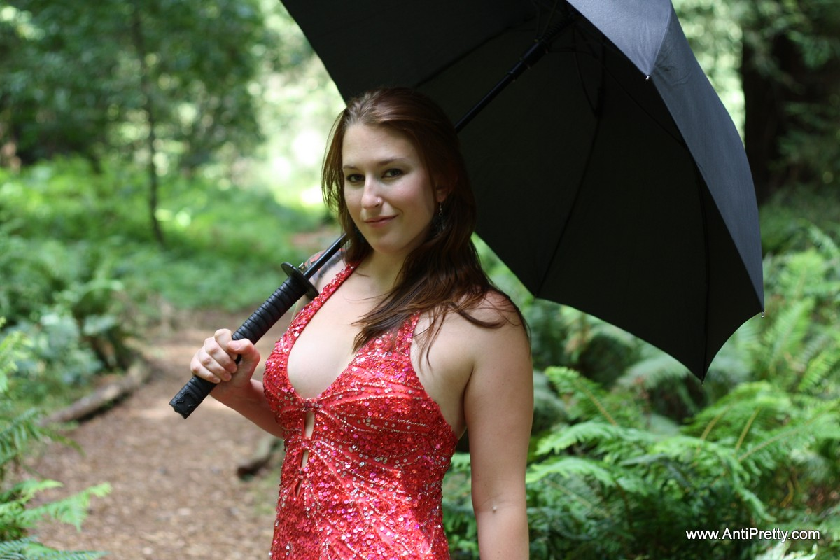 Juliet: Red Dress in the Woods